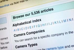 Camera-wiki adding new articles