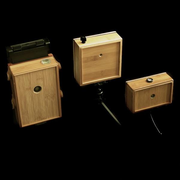 Bamboo Dish Pinhole Cameras